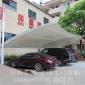 启顺一种新型充电站阳光板汽车棚二氧化钛膜布停车棚安装价格厂家